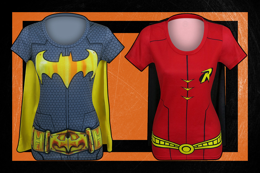 Check out these awesome Batgirl and Robin Sublimated Costume Tees!
