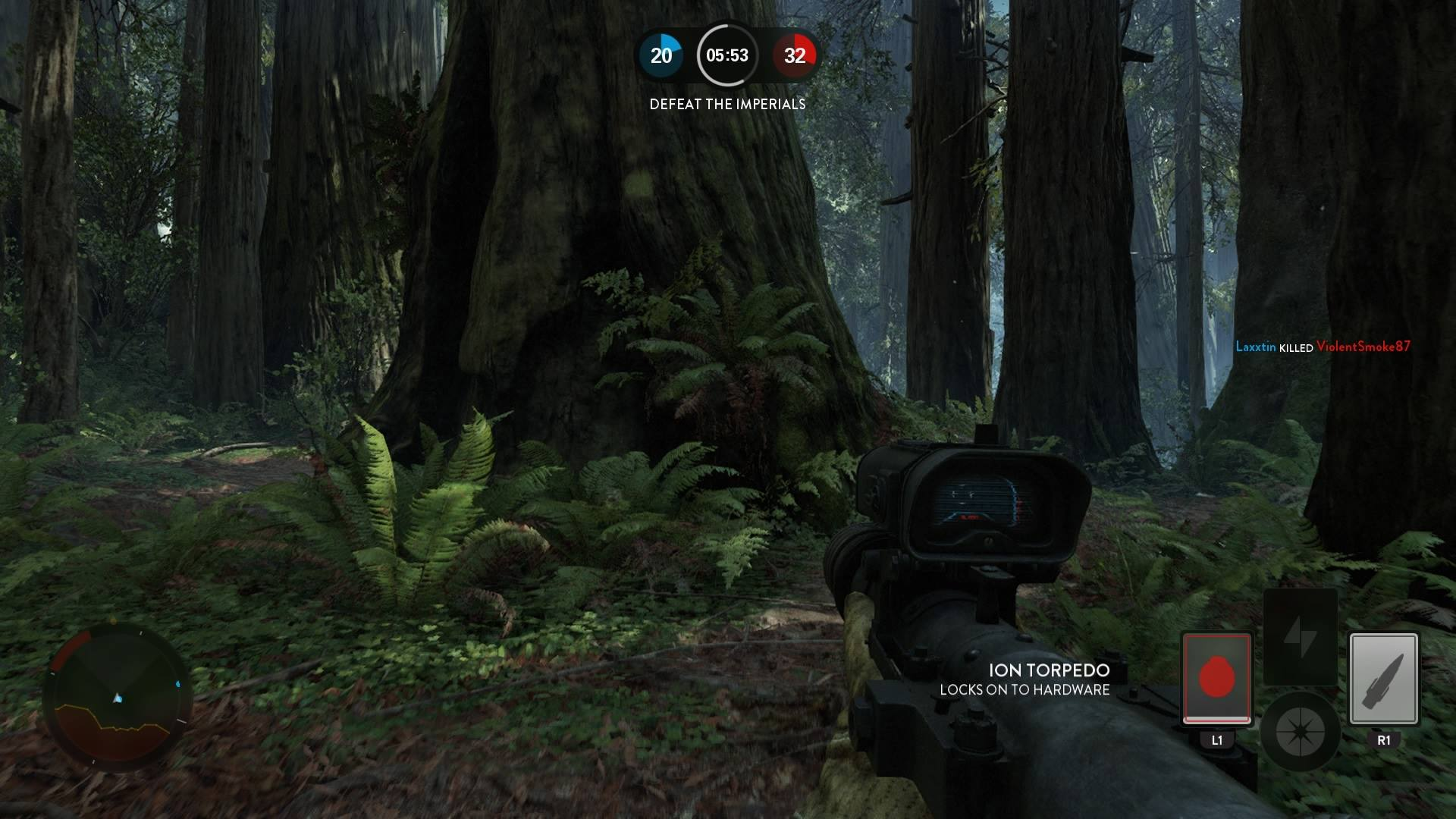 You might slam your noggin into rock in Star Wars Battlefront!