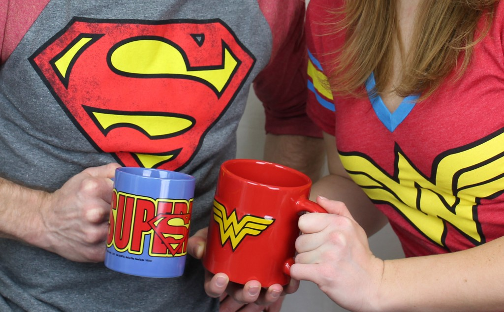Superman and Wonder Woman mugs!