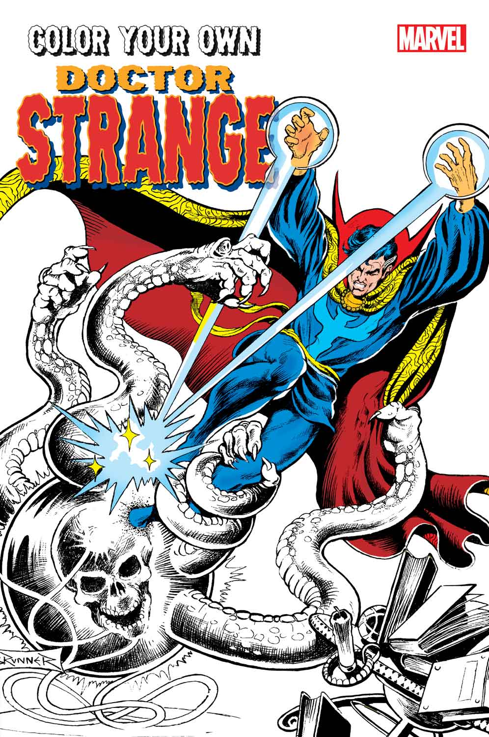 color your own doctor strange - Marvel Coloring Books