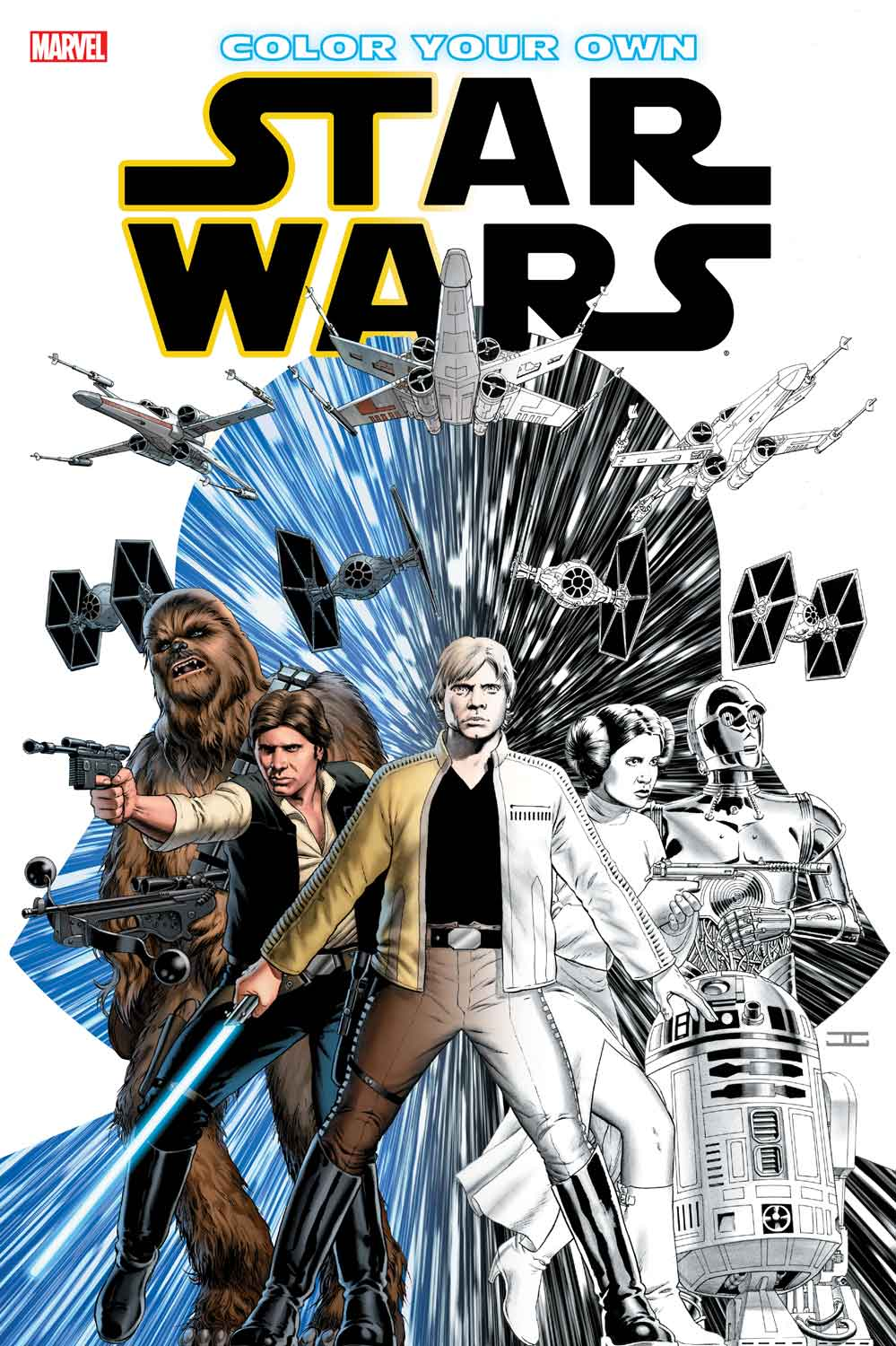 color your own star wars - Marvel Coloring Books