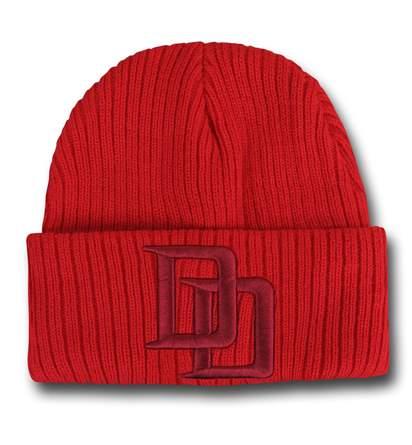 Daredevil Symbol Cuff Beanie