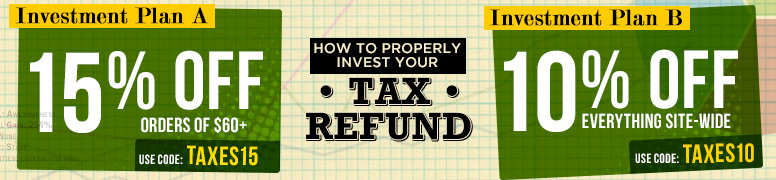 It's Superherostuff's TAX REFUND SALE! Invest in US!