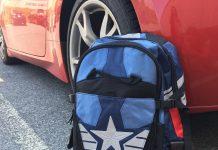 It's the Captain America Civil War Cap Laptop Backpack!