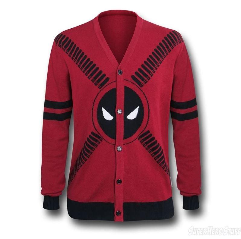 Deadpool Symbol and Straps Men's Cardigan