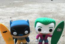 The Batman and Joker 'Surf's Up' POP Vinyl Figures