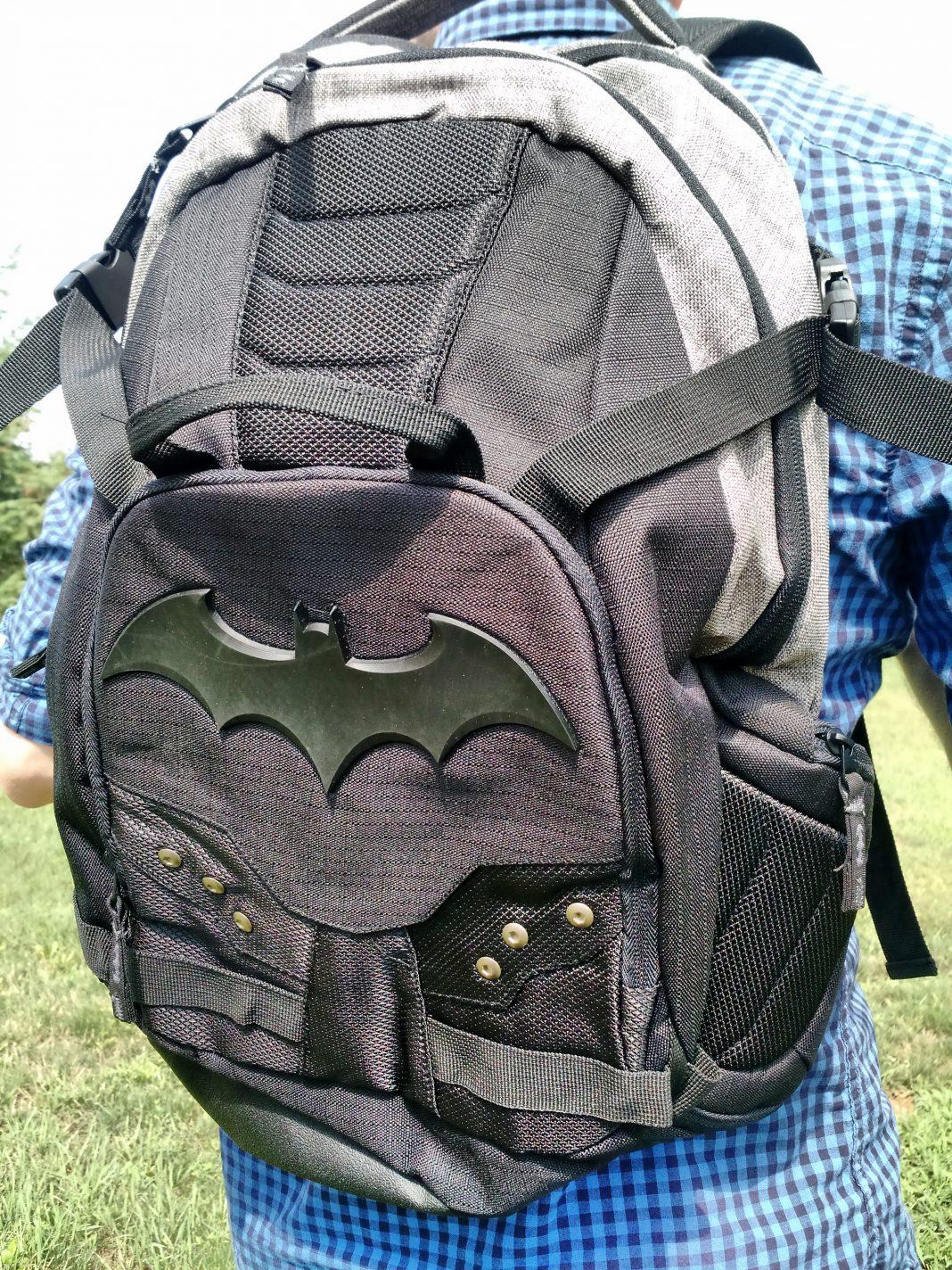 It's the Batman Symbol Two-Tone Built Backpack