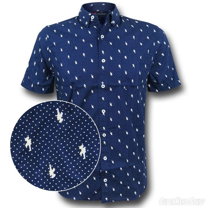 It's the Captain America Pin Dot Men's Button Down Shirt!