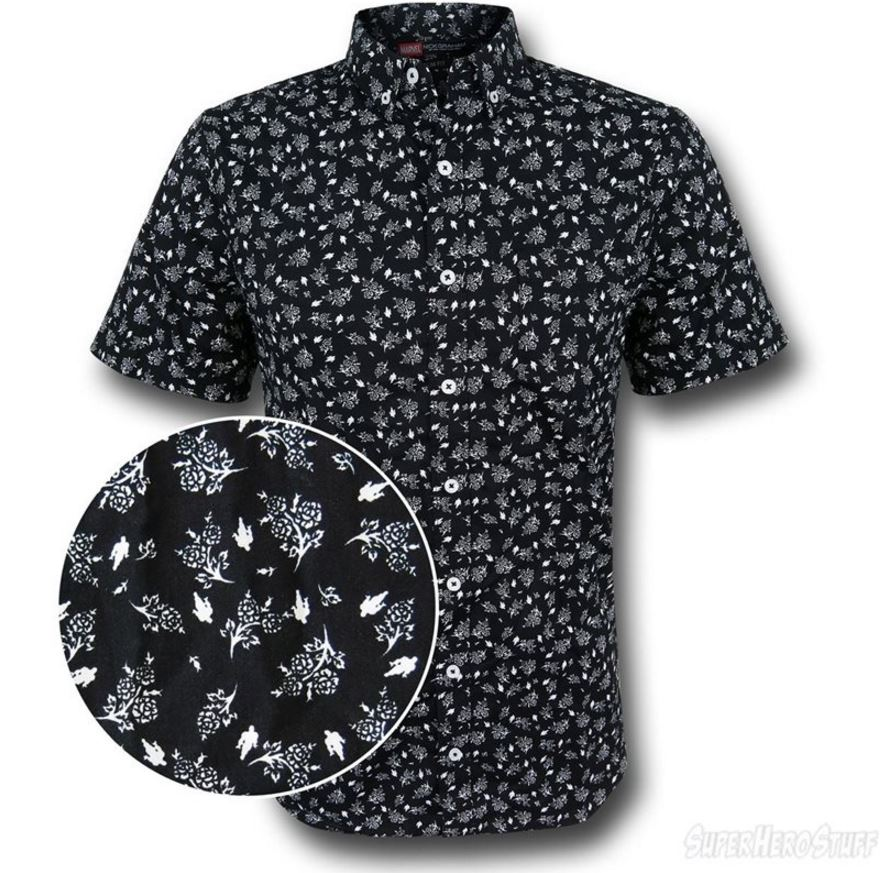 It's the Iron Man Floral Print Men's Button Down Shirt!