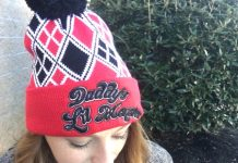 It's the Harley Quinn Suicide Squad Pom Pom Beanie!