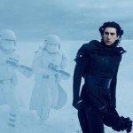 Kylo Ren is having fun in the snow