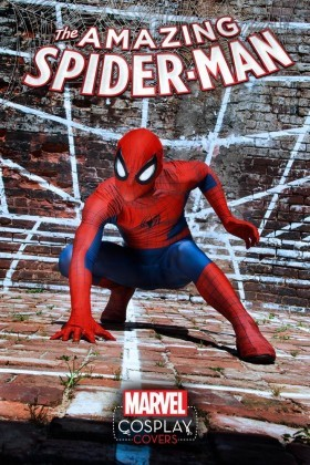 The cosplay cover for the Amazing Spider-Man