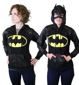 Women's Batman hoodie with mask