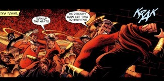 Jay Garrick in Action as the Flash!