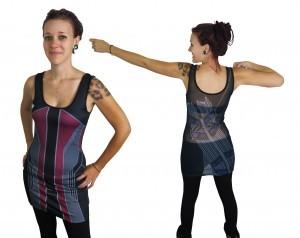 Hawkeye Costume Womens Mesh Back Dress