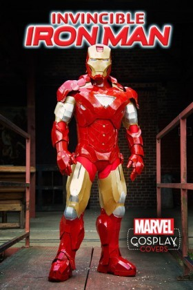 The cosplay cover for the Invincible Iron Man