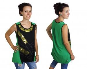 Loki Foil Costume Womens Tank Top