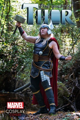 The cosplay cover for the Mighty Thor