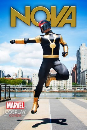 The cosplay variant cover for Nova