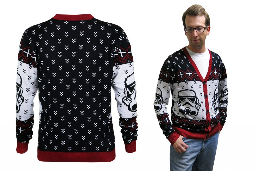 Star Wars Stormtrooper Christmas Sweater Cardigan