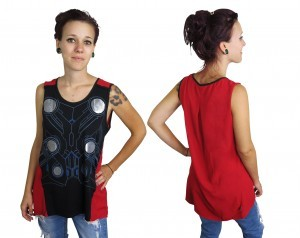 Thor Foil Costume Womens Tank Top