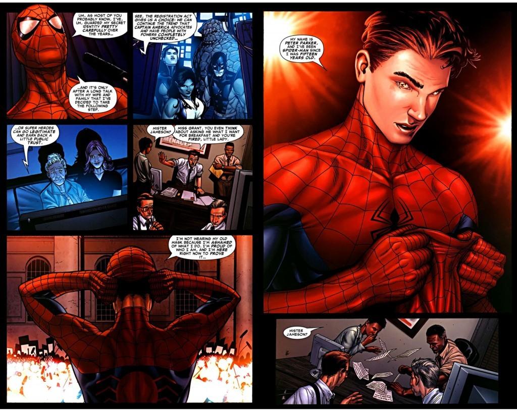 Spider-Man publically reveals his identity.