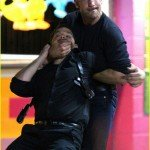 John Bernthal as the Punisher Administering the Chin-Lock!