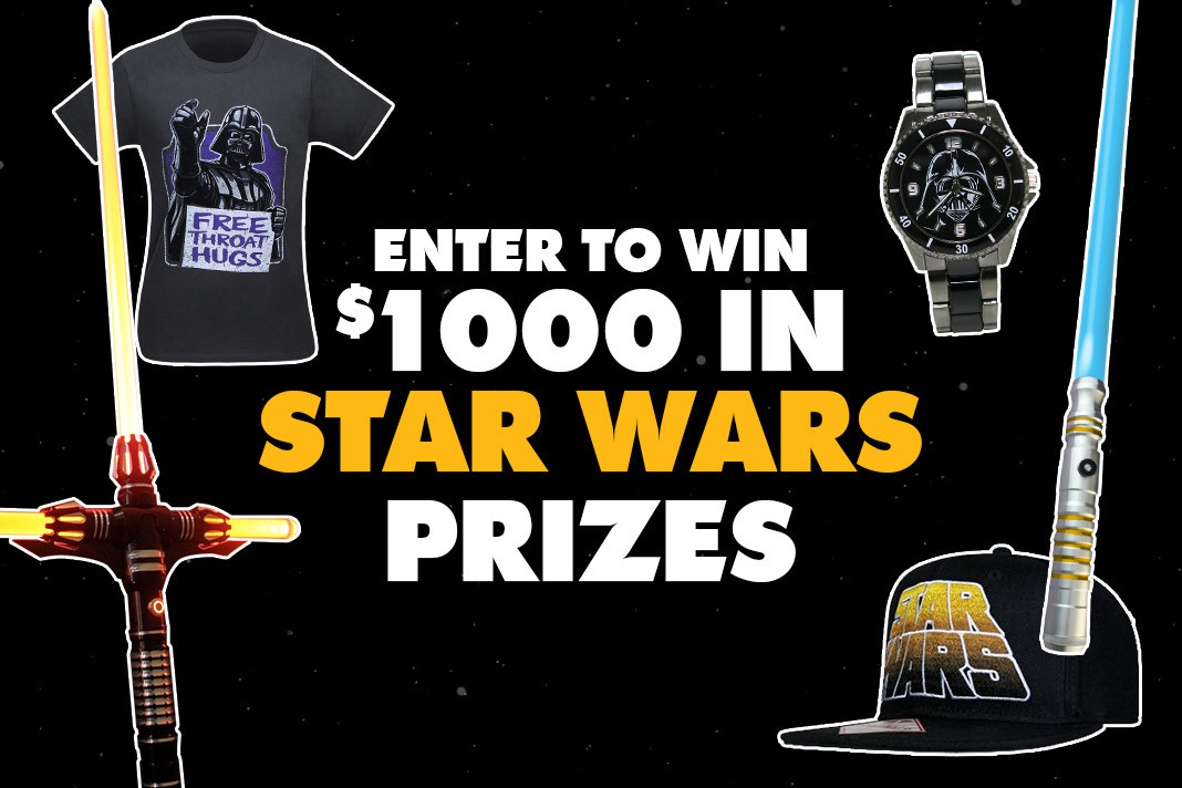 You know you want to enter the Force Awakens contest!