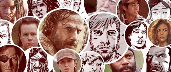 Walking Dead Characters TV vs Comics Infographic