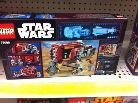Rey's Speeder Lego Set(reverse side)
