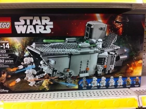 First Order Trooper Transporter Lego Set