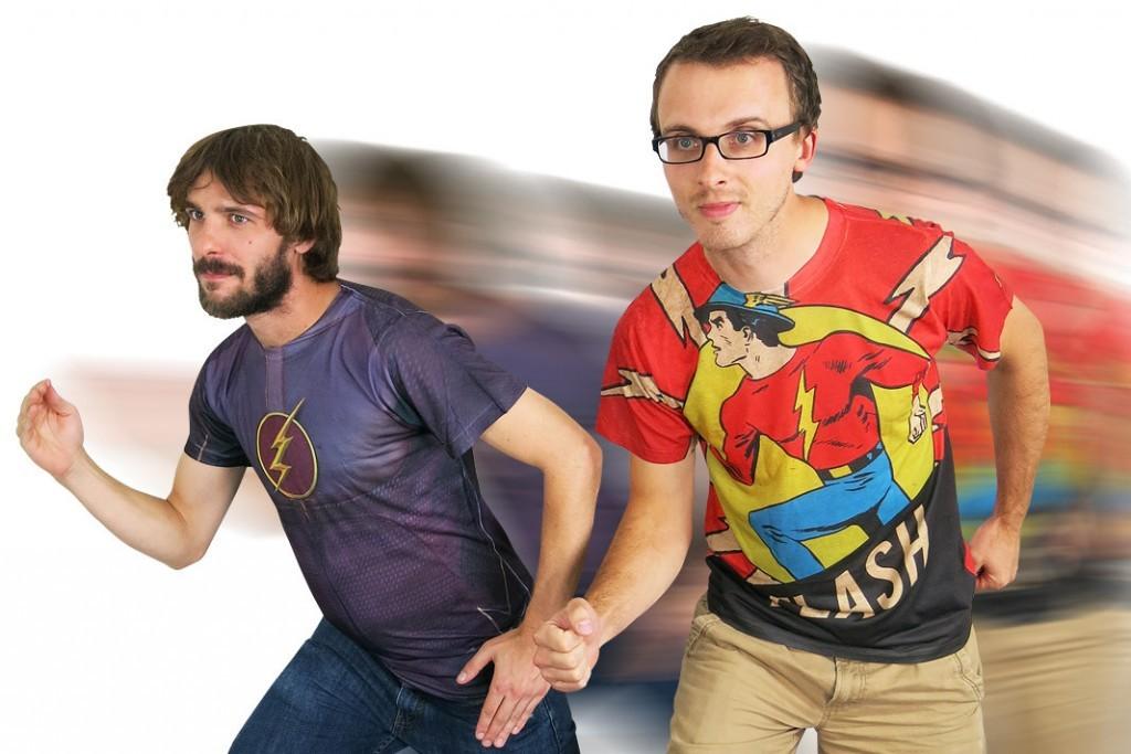 Flash TV Sublimated Costume T-Shirt, $37.99; Flash Jay Garrick Sublimated T-Shirt, $37.99