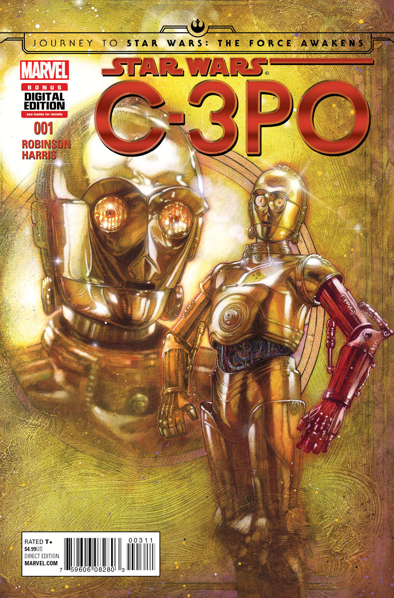 The comic book staring C3PO