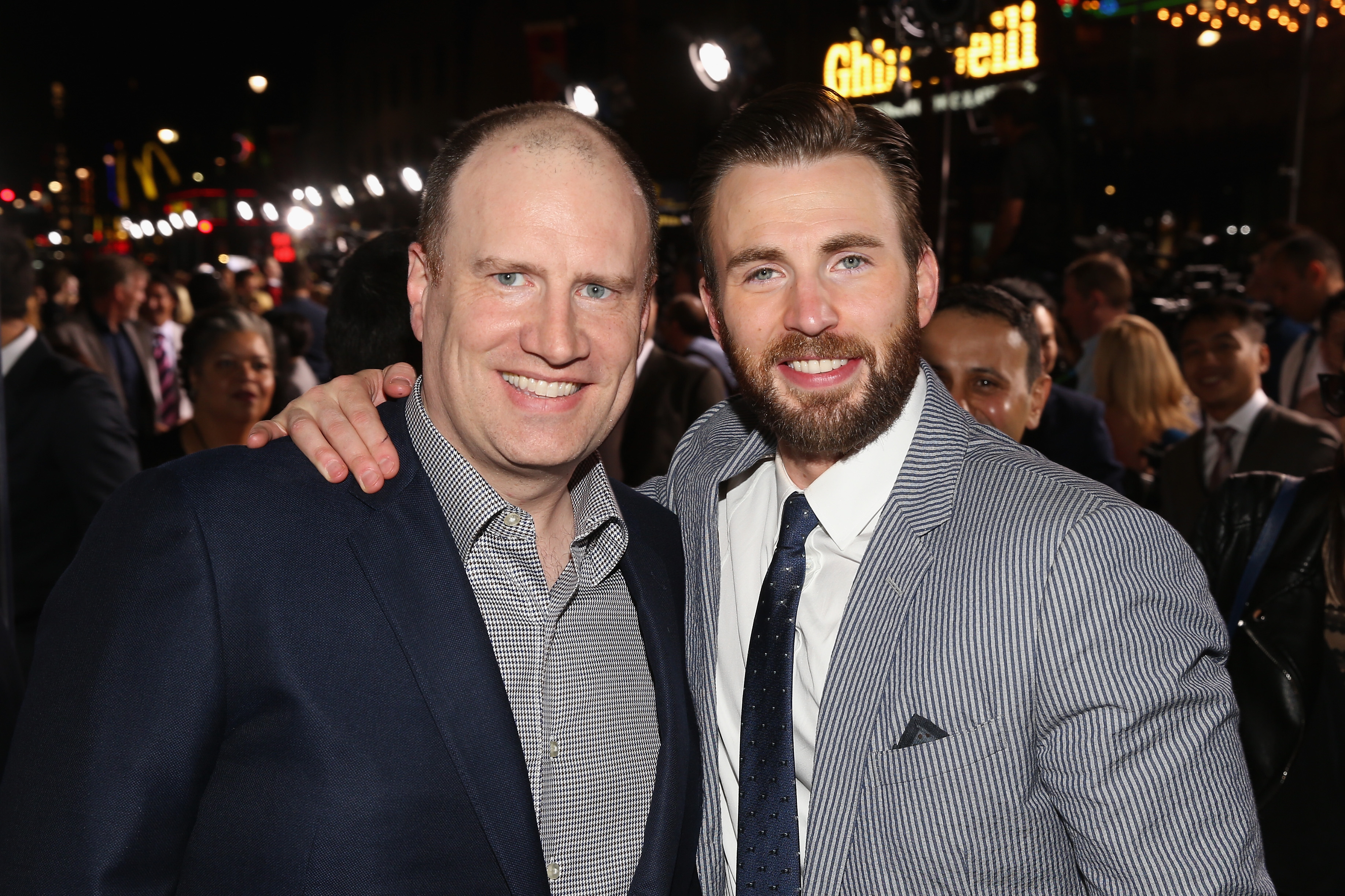 Chris Evans and Kevin Feige