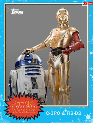 Topps Trading Card with R2D2 and C3PO