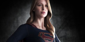 Supergirl affecting the proud stance!