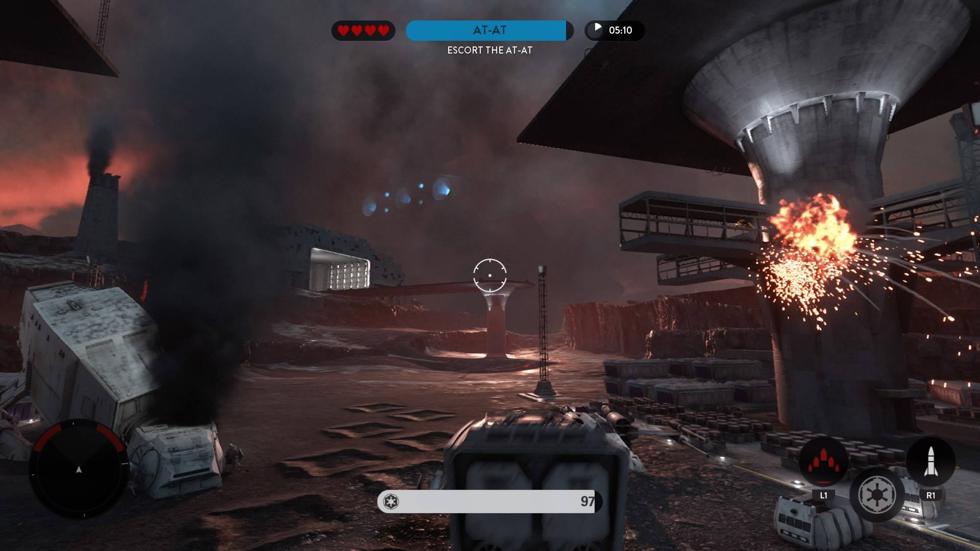 In the midst of a training mission in Star Wars Battlefront.