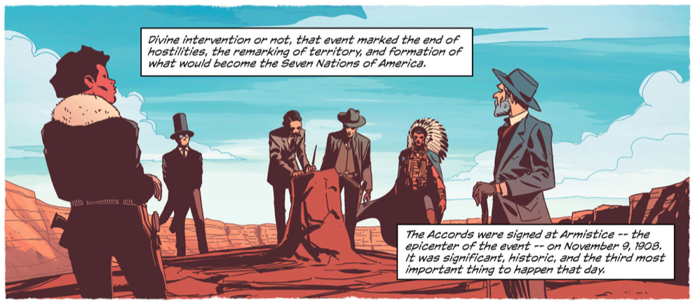 The beginnings of peaceful politics in Jonathan Hickman's East of West!