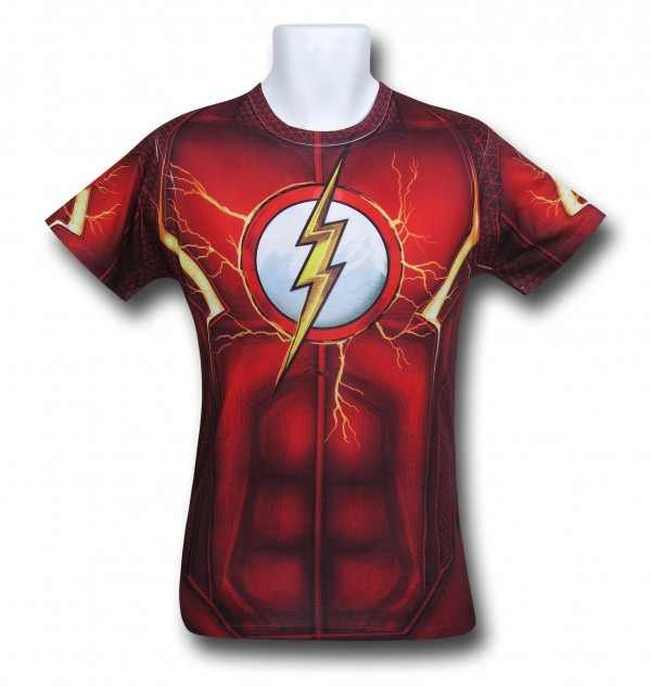Flash Suit-Up Sublimated Costume T-Shirt, on sale During our Black Weekend Sale!