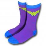 Wonder Woman Blue and Purple Socks