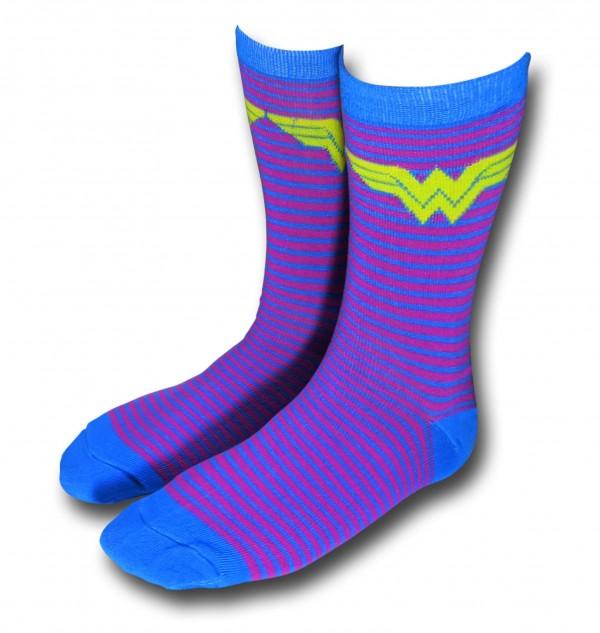 Wonder Woman Purple and Blue Women's Socks on sale during our Black Weekend Sale!