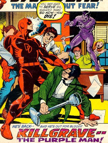 Killgrave The Purple Man returns to the pages of Daredevil!
