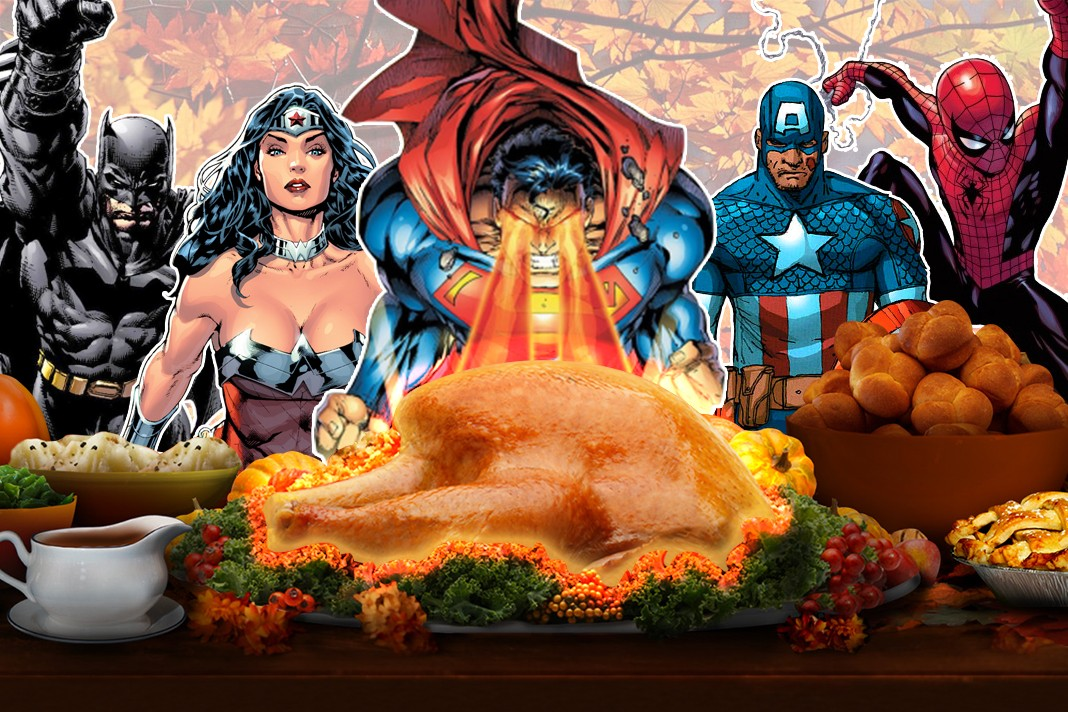 Superheroes celebrate Thanksgiving!