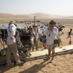 On the set of Star Wars: The Force Awakens