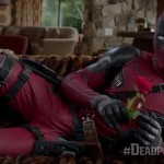 deadpool with flowers