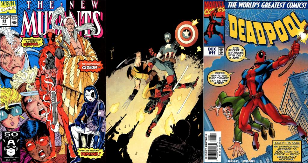 New Mutants #98, Deadpool #15 (2013), Deadpool #11 (1997)
