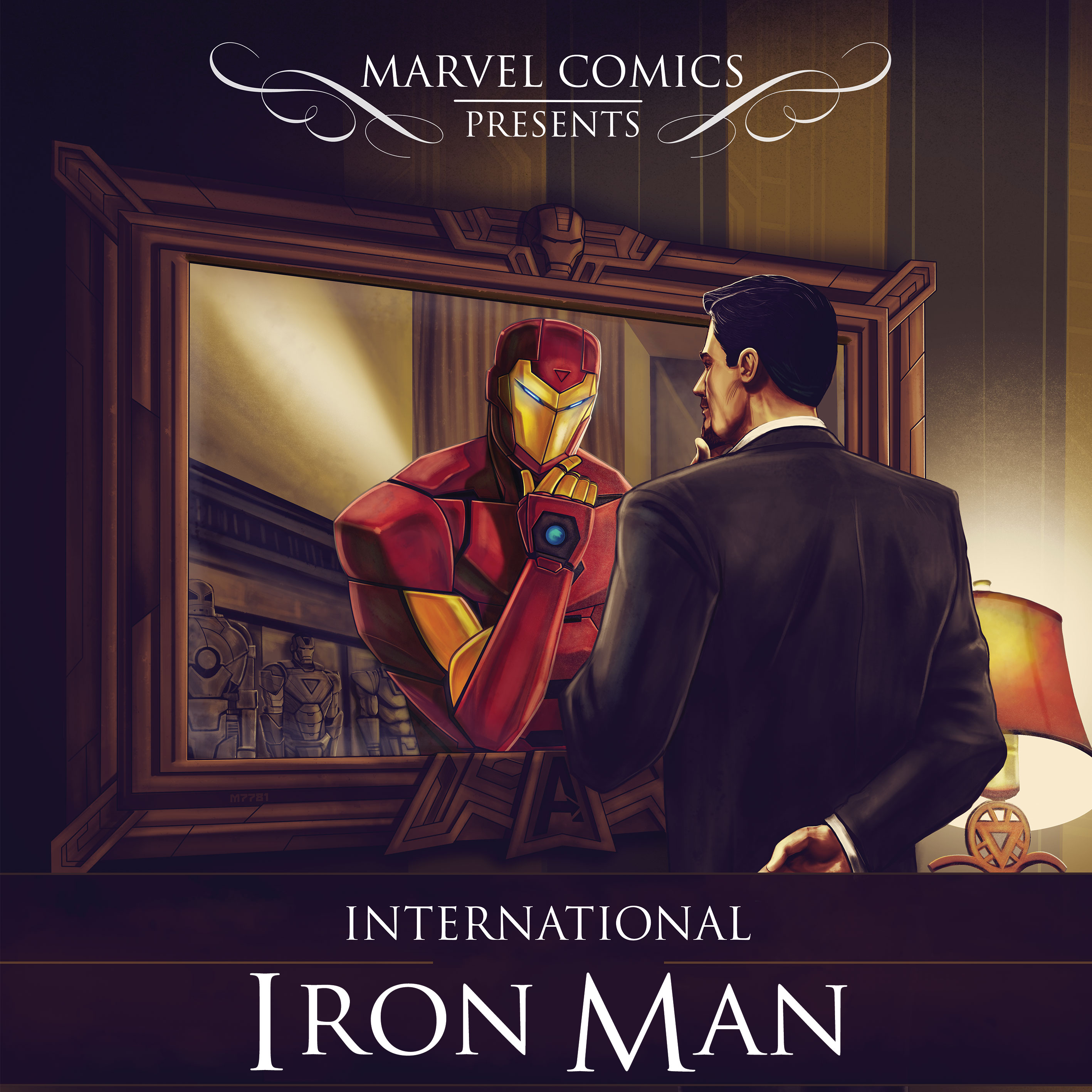 Comic Book Cover Art Sale : First look at international iron man