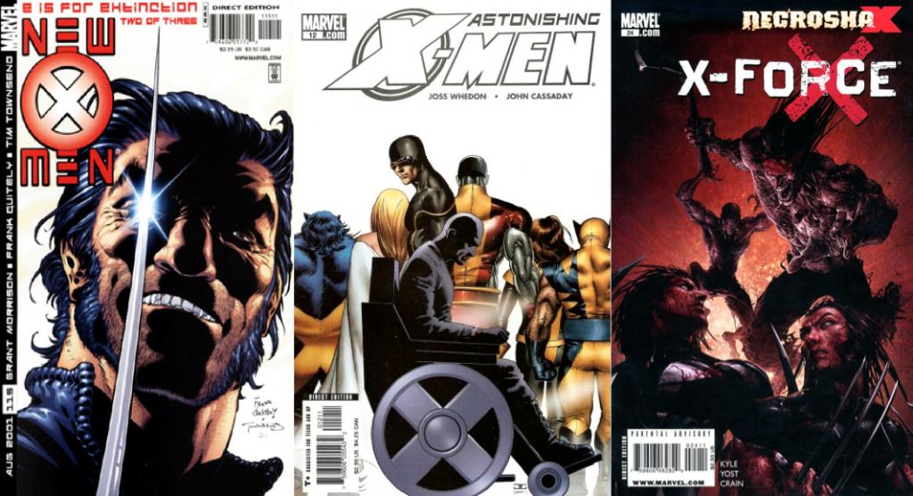 New X-Men #115, Astonishing X-Men #12, X-Force #24