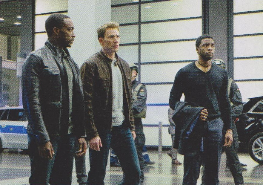 Black Panther, Captain America and the Falcon in Captain America: Civil War!