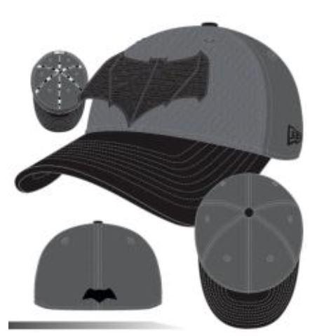 Armor Batman V Superman: Dawn of Justice Batman Symbol 3930 Hat!